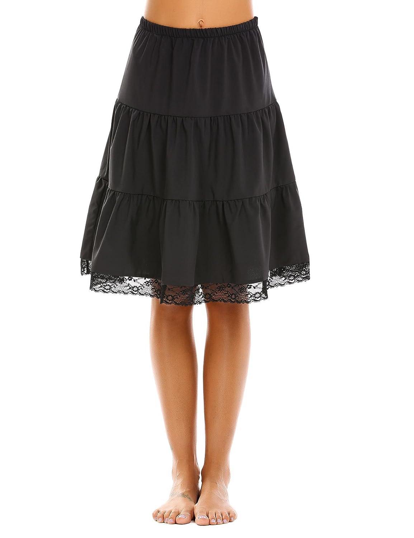 2black Aimado Skirts Women High Waist Knee Length Patchwork Casual Summer Skirt(S,XL)