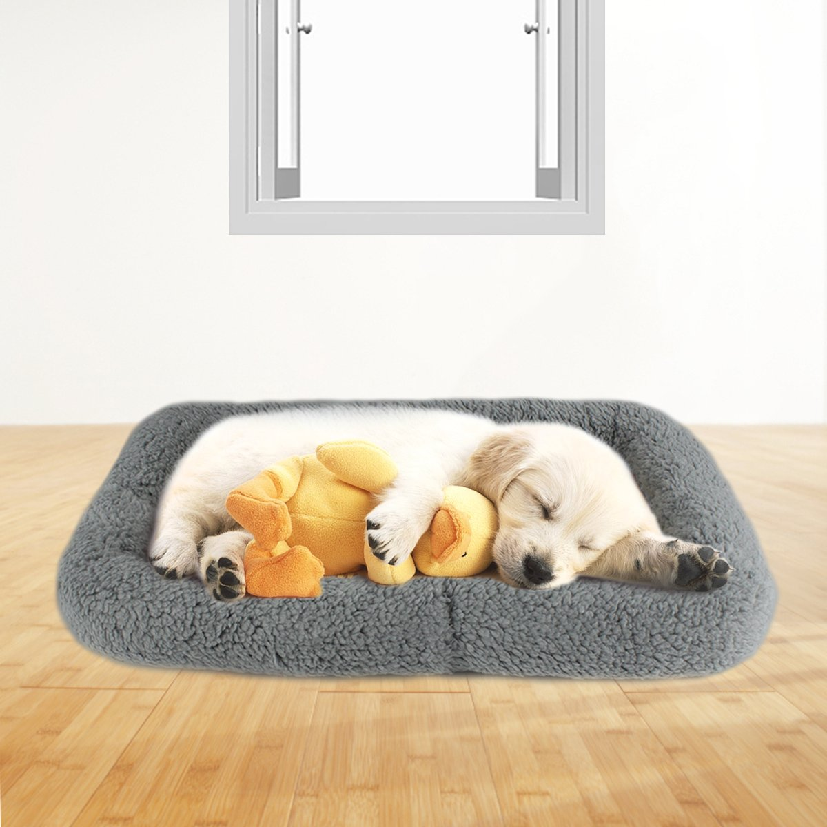 LESYPET Small Dog Crate Cotton Washable Mat Small by LESYPET (Image #7)