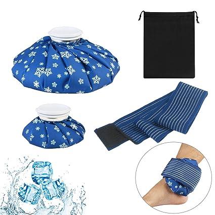 bolsa de hielo para calor y frió ZoomSky tratamientos de rodillas de dos tomaños diferentes con banda y bolso ordenado para fiebres de niños, lesiones ...