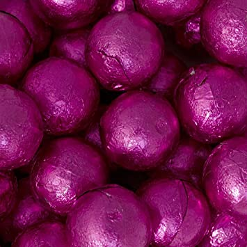 e0291f4efcc8 Image Unavailable. Image not available for. Color  Pink Candy Caramel  Filled Milk Chocolate Foiled Balls ...