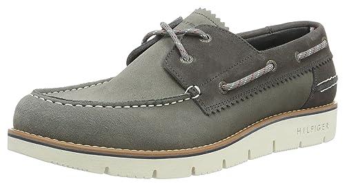 Tommy Hilfiger C2285ase 4b, Náuticos para Hombre, Gris (Light Grey 007), 44 EU: Amazon.es: Zapatos y complementos
