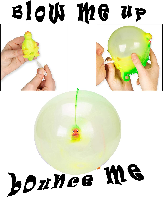4 Piece Bundle and Balloon Balls Hedgehog Backpack Dino Growing Egg