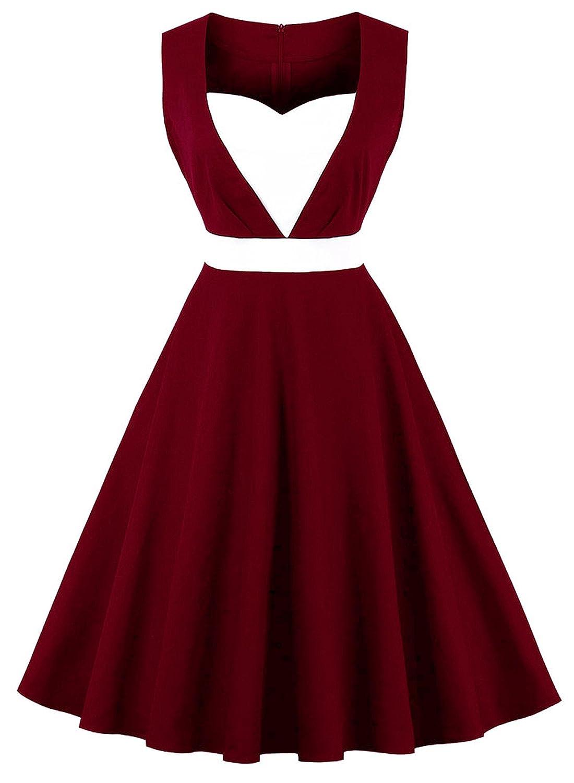 500 Vintage Style Dresses for Sale Ayli Womens Sleeveless 1950s Retro Hollywood Halloween Christmas Costume Party Midi Swing Dress $27.99 AT vintagedancer.com