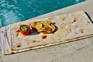 "Tortilla Towel - The Original Tortilla Burrito Towel - Ultra Soft Premium 100% Cotton Full Size Beach & Bath Towel - 32"" x 70 "" inch Dimension - Perfect for Kids & Adults"