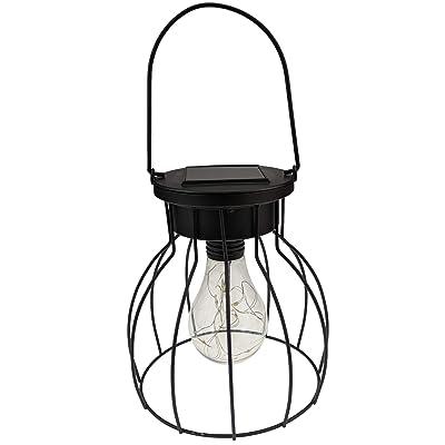 Yard Island Solar Hanging Pendant Fairy LED Cage Lantern (Style 3)