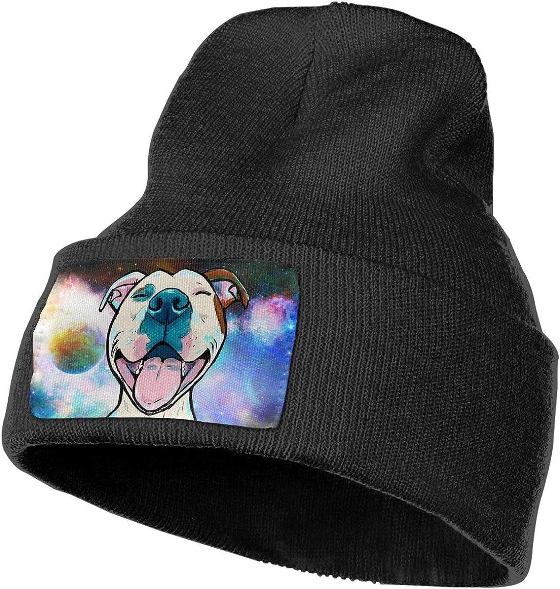 Pitbull Dog Beanie Hat Unisex Stylish Cap Serious Style Slouchy Hats