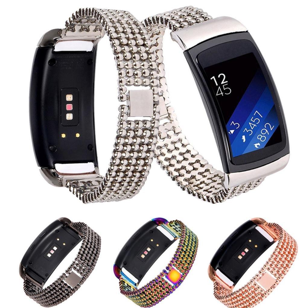 ギアfit2 Pro腕時計ストラップ、nacomeステンレススチール時計バンドアクセサリーバンドブレスレットfor Samsung Gear fit2 Pro ローズゴールド ローズゴールド B078VZVPLZ