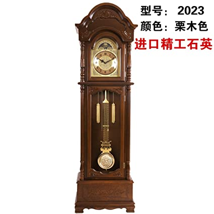 Y-Hui Solid Wood Antique Polaris Entered Into The Clock Tower Clocks Floor Clock Pendulum