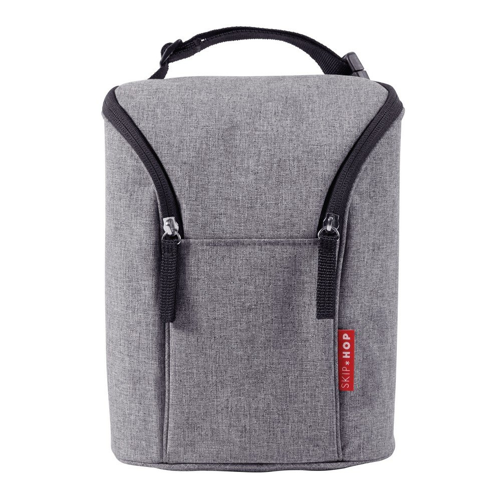 Skip Hop Grab and Go Double Bottle Bag (Heather Grey) 205311-CNSZP
