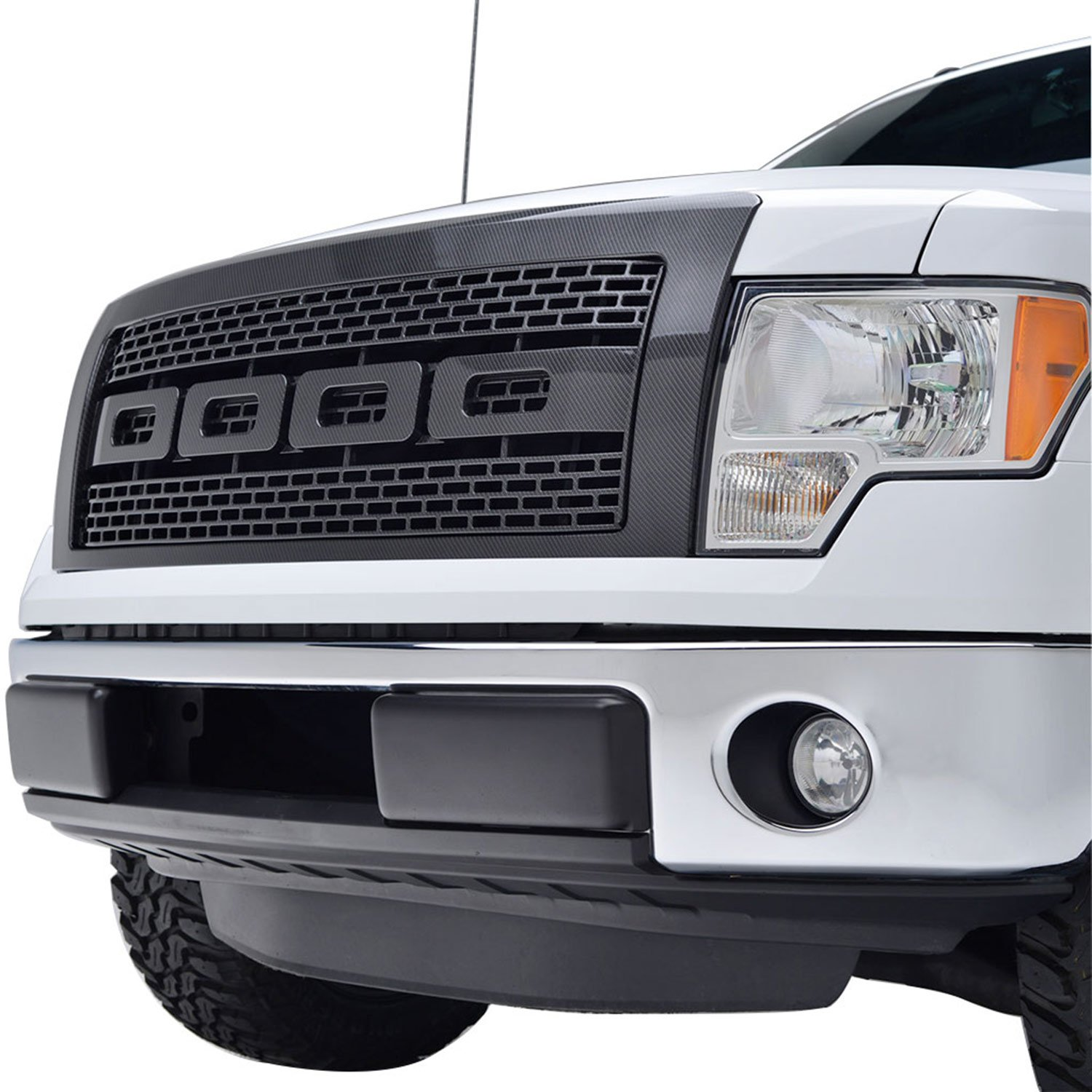 amazoncom e autogrilles abs vicious style replacement grille grill with shell for 09 14 ford f 150 carbon fiber look automotive