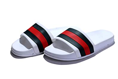 667aa778b27 Hush Berry Classic Beach Flip-Flop Fancy Slippers for Men Women (10) White  Buy  Online at Low Prices in India - Amazon.in