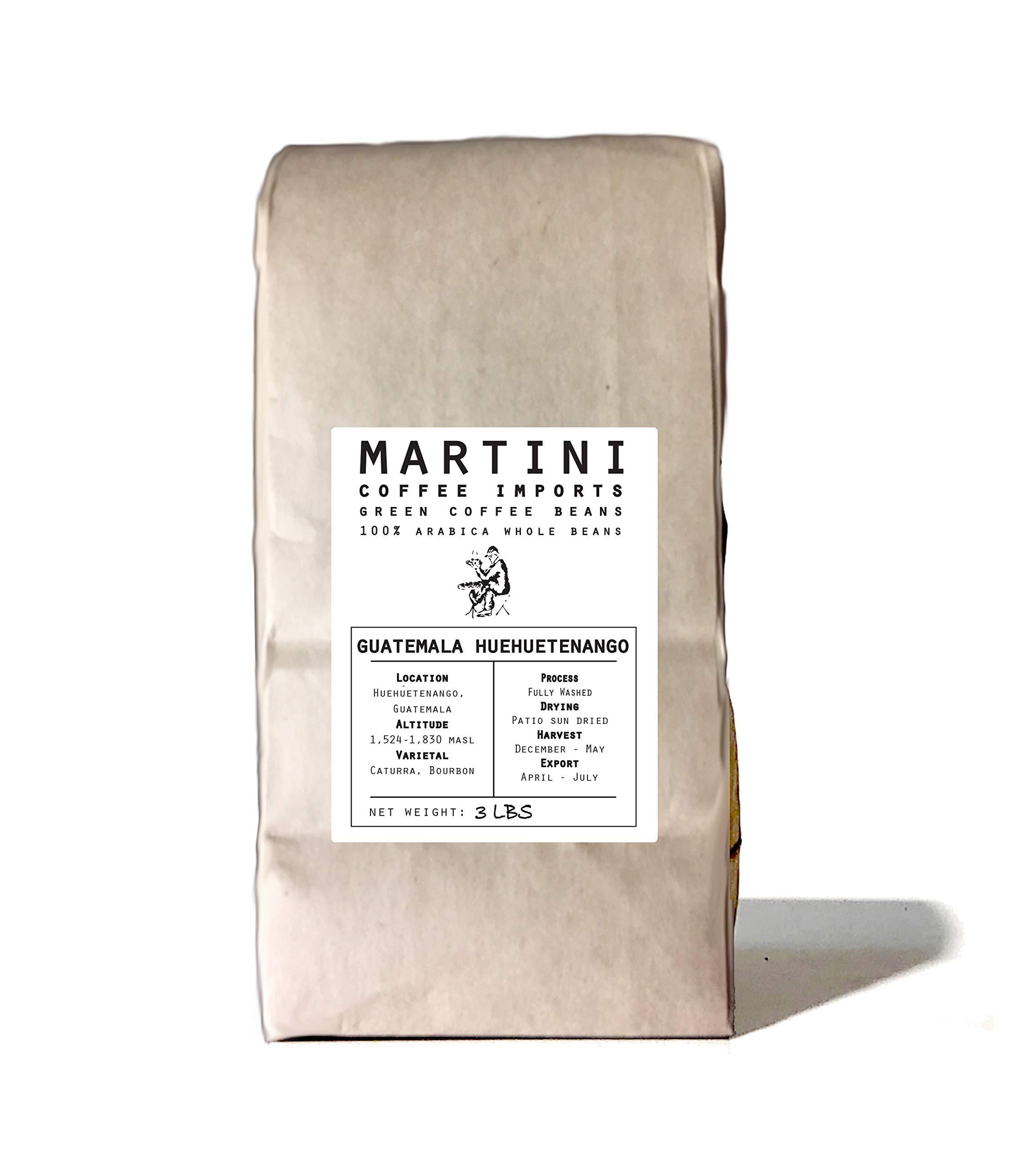 3Lbs, Single Origin Unroasted Green Coffee Beans, Guatemala Huehuetenango by Martini Coffee Roasters