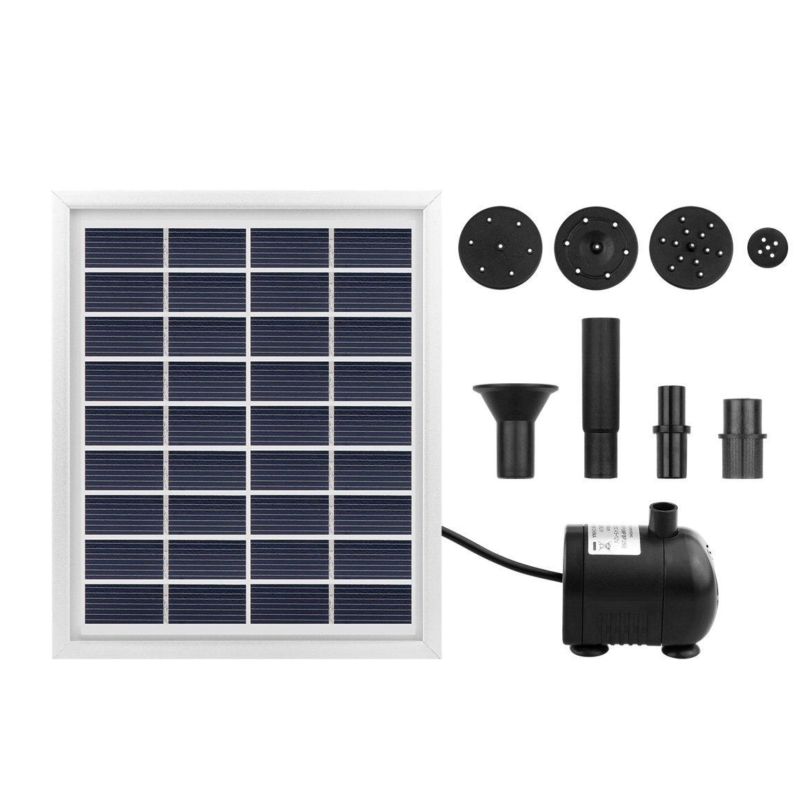 Solar Fountain Solar Power Water Pump Solar Panel Power Submersible Fountain Pond Water Pump Kit 55cm Height for Garden Plants Pool Pond 2W ALLOMN