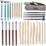Augernis Polymer Clay Tools,28pcs Modeling Clay Sculpting Tools Set for Pottery Sculpture,Dotting Tools Ball Styluses…