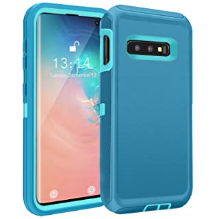 FOGEEK Compatible with Samsung Galaxy S10e Case, Protective Cover, Full Protection Rugged Case [Support Wireless Charging][Dust-Proof] for Galaxy S10e [5.8 inch] 2019 (Tea Blue/Light Blue)