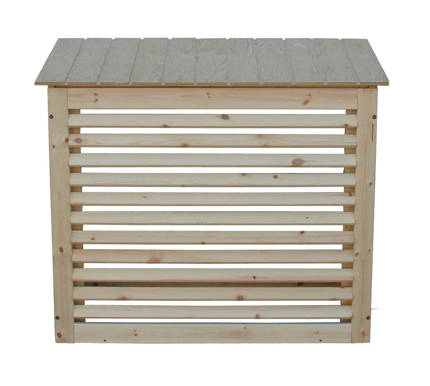 Sichtschutz aus Holz für Klimageräte oder Wärmepumpe Gr 3 Amazon