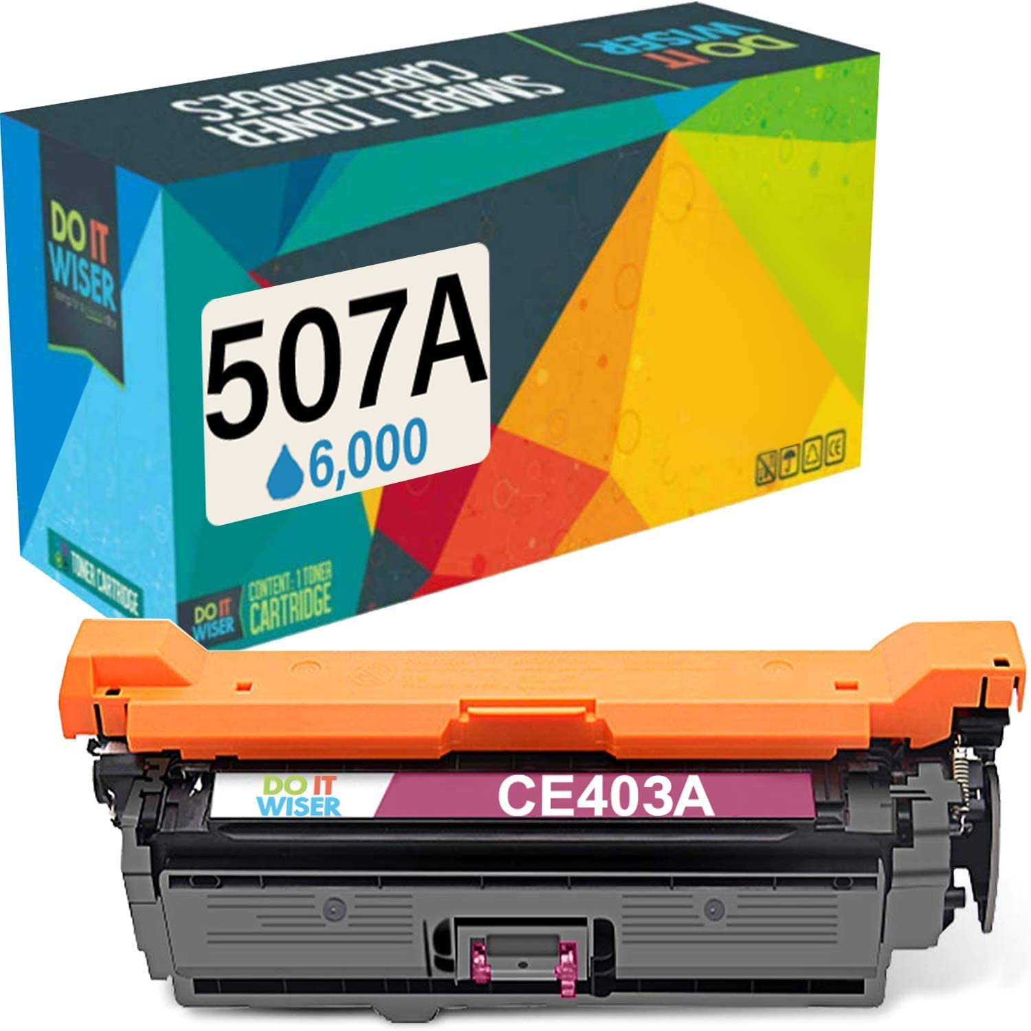 Do it Wiser Remanufactured Toner Cartridge Replacement for HP 507X HP 507A CE402A HP Laserjet Enterprise M551n M551dn M551xh M570dw M570dn M575c M575dn M575f (Magenta)