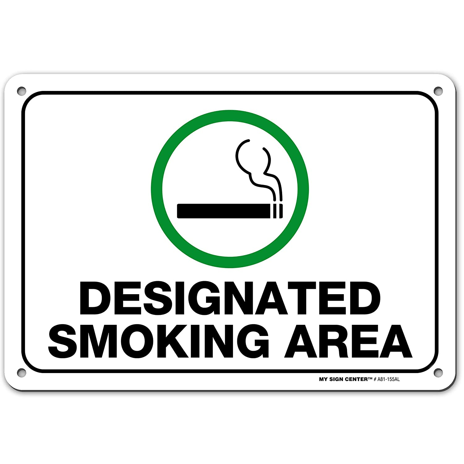 Designated Smoking Area Sign Made Out Of 040 Rust Free Aluminum Indoor Outdoor Use Uv Protected And Fade Resistant 7 X 10 By My Sign Center Amazon Com Industrial Scientific,Nursing School T Shirt Designs