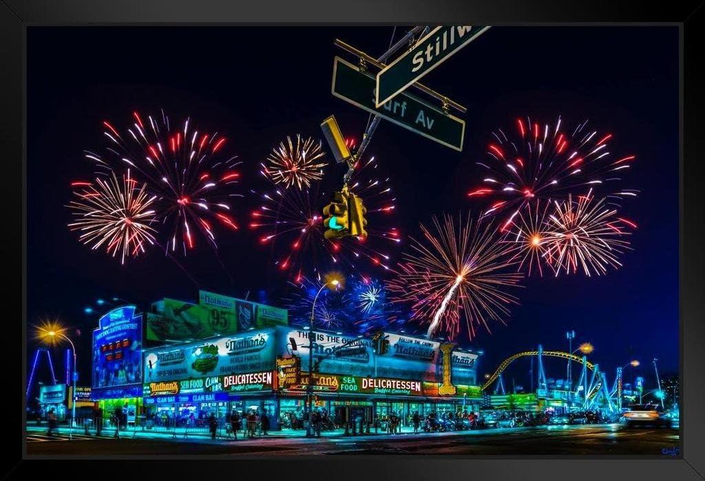 Saturday Night Coney Island by Chris Lord Photo Art Print Poster 24x36 inch