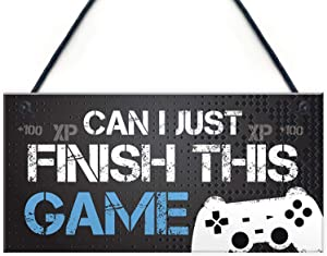 Funny Gamer Gift Gaming Sign for Boys Bedroom Door Man Cave Son Birthday Xmas Gift Wall Decor