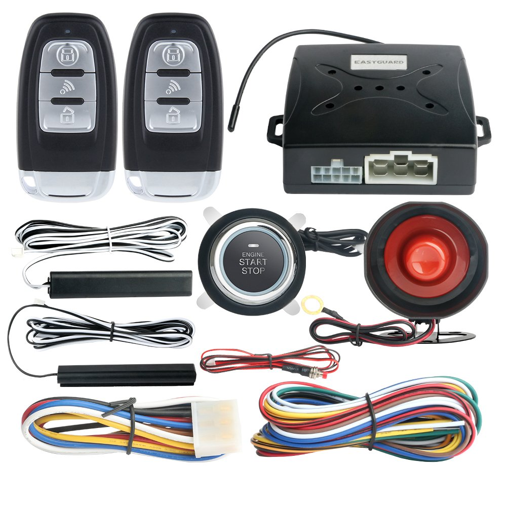 Start Engine Stop Button Wiring Easyguard Ec003 Smart Key Pke Passive Keyless Entry Car Alarm System Remote