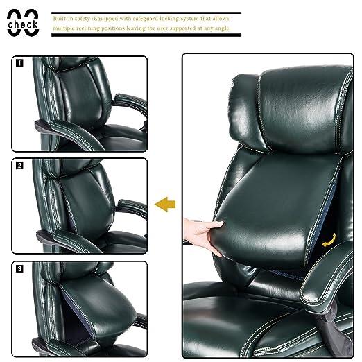 Merax Inno serie ejecutivo silla de respaldo alto, con ajustable Lumbar de pivote y acolchado reposapiés para hogar y oficina: Amazon.es: Oficina y ...