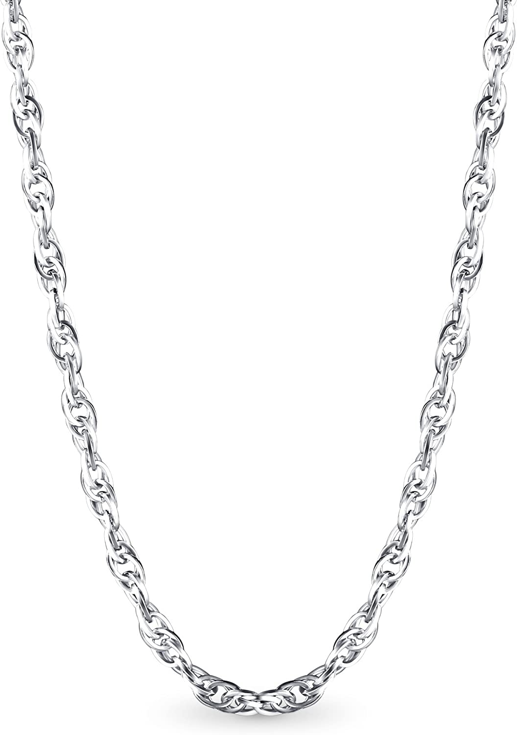 """women/'s ROPE CHAIN NECKLACE 16/""""18/"""" 20/"""" 22/"""" 24/"""" 1.5MM 925 STERLING SILVER men/'s"""