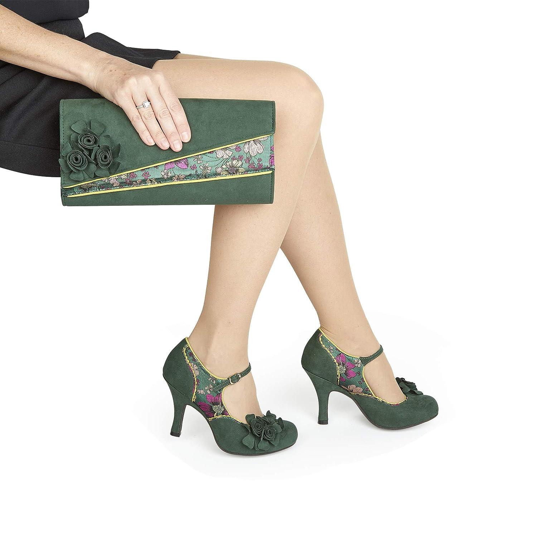 Ruby Shoo Ashley Green Womens Hi Heels Court Shoes