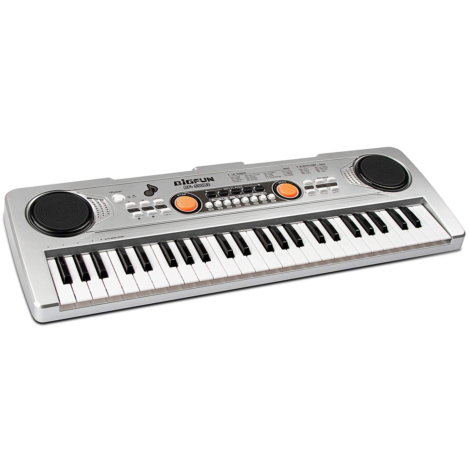 aPerfectLife 49 Keys Piano Keyboard for Kids Multifunction Portable Piano Electronic Keyboard Music Instrument for Kids Early Learning Educational Toy (Silver) by aPerfectLife