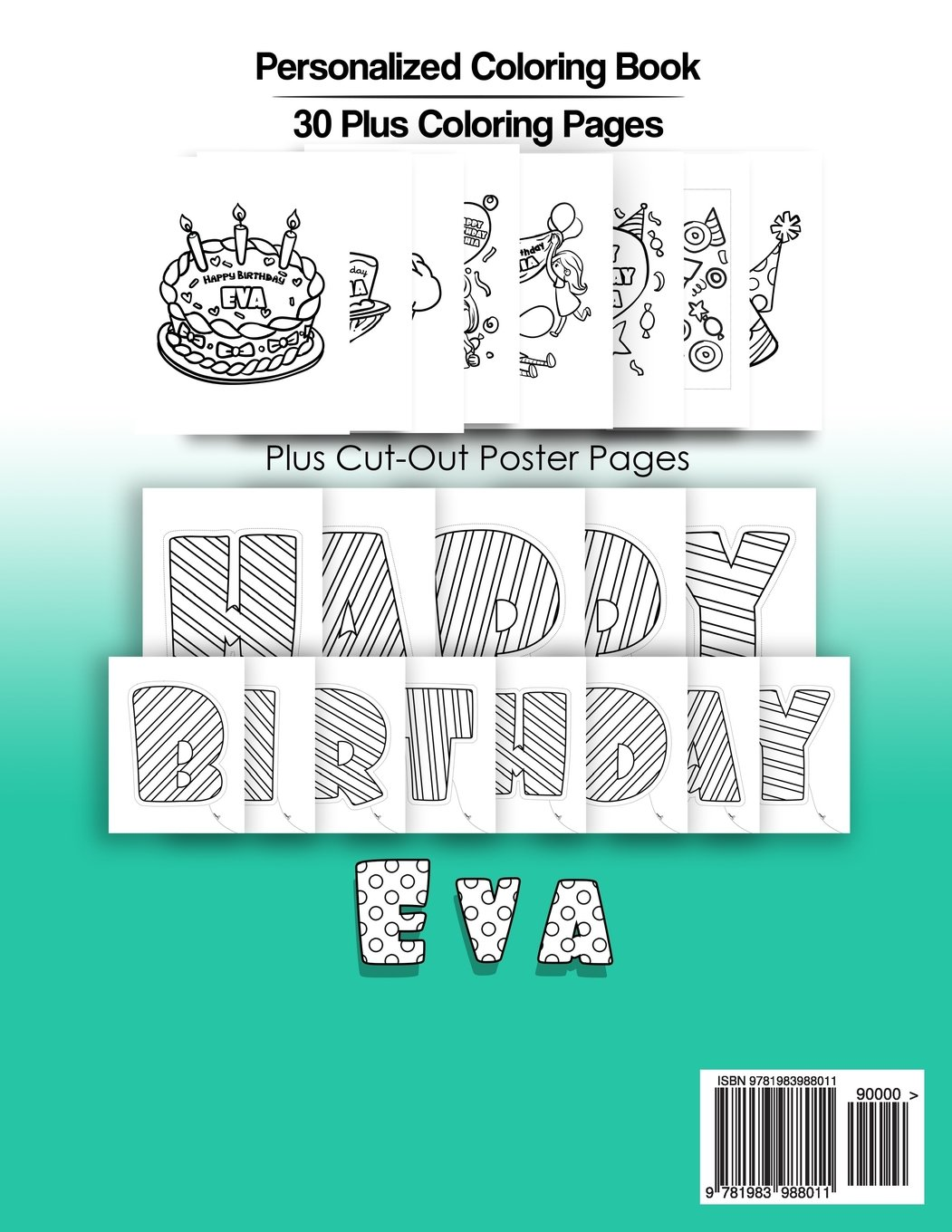 Eva\'s Birthday Coloring Book Kids Personalized Books: A Coloring ...