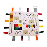 Educational Learning Lovey Ribbon Tag Security Blankets (Baby Wizard)