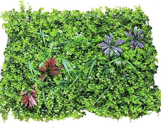 YNFNGXU Planta de paisajismo Pared de Fondo, Pantalla de Valla, decoración de la Boda del jardín, Cubierta Artificial 60 × 40 cm (Color : C): Amazon.es: Hogar