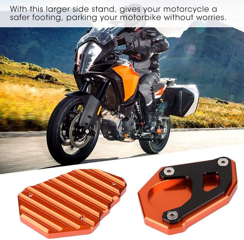 Vobor Motorradständer Seitenständerplattenverlängerung Vergrößern Pad Motorrad Seitenständer Vergrößerer Für 1050 1090 1190 1290 Adventure Super Auto