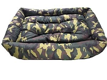 ibertejidos Super cama y colchon para perro estampado 120cm X 80cm (Camuflaje Verde): Amazon.es: Productos para mascotas