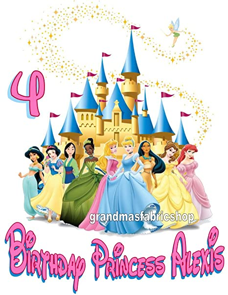 Personalized Disney Princess Birthday T Shirt