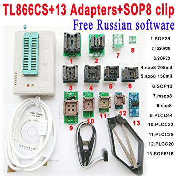 TL866cs programmer +13 adapters + IC CLAMP High speed TL866