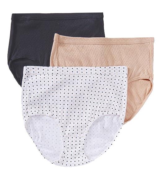 6d6c3178d762 Jockey Women's Underwear Elance Breathe Brief - 3 Pack: Amazon.co.uk:  Clothing