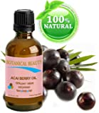 """ACAI BERRY OIL 100% Pure / Natural Cold pressed Carrier Oil. For Face, Body and Hair. 0.17 fl.oz. / 5 ml. From Amazon Rainforest. """"Number one superfood for the skin and hair."""""""