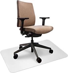 """Redsun Office Home PVC Chair Mat for Hardwood Floor 0.06""""Thick Crystal Clear Chair Mat for Hard Floor, Can't be Used on Carpet Floor Easy Clean (36"""