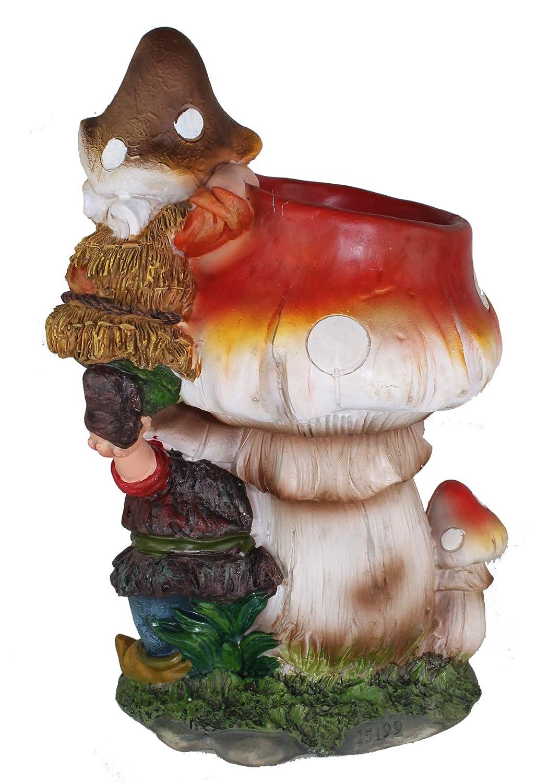 Fungo Nano Design con Flower Head NF 15199 32 cm Giardino Deko Giardino Giardino Nero Figure Decorazione vari design