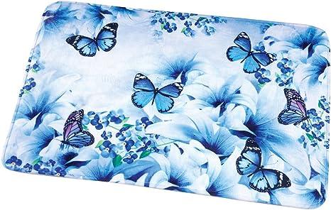 Vivid Monarch Butterfly Bathroom Mats Bedroom Shower Mat Soft Floor Rug Non Slip