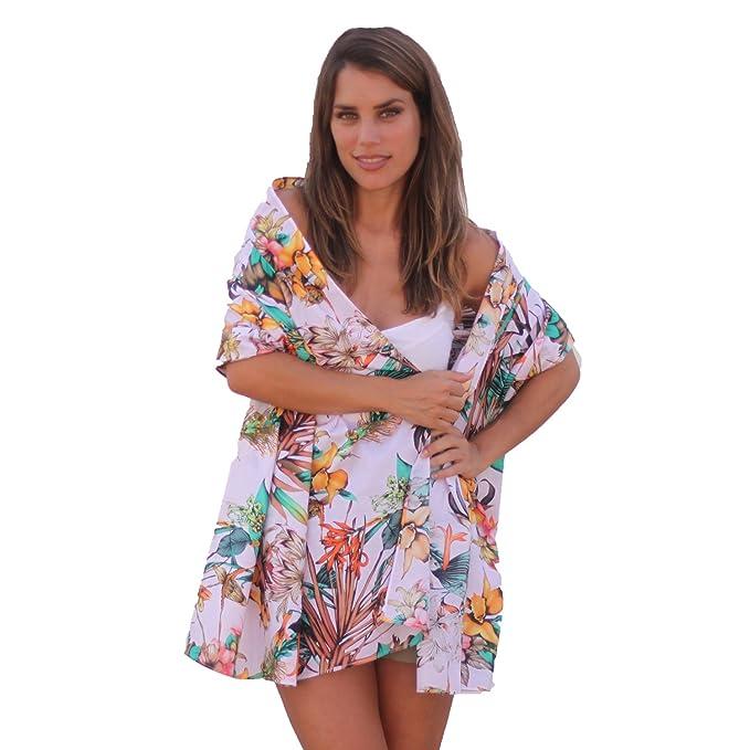 BRANDELIA Sarong Pareo Estampado Tropical floral Fular XL. Toalla ...