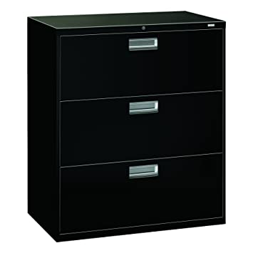 HON Brigade 3 Drawer Filing Cabinet   600 Series Lateral Legal Or Letter File  Cabinet