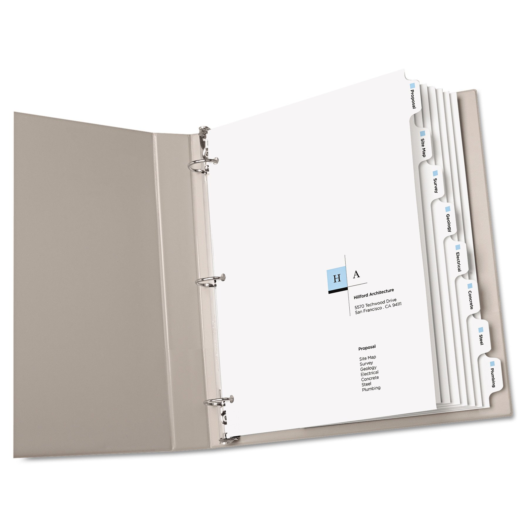 Avery Print-On Dividers, White, 8 Tabs, 5 Sets (11552) by Avery (Image #2)