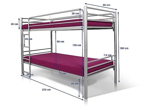 Etagenbett Für Erwachsene 90x200 Metall : Jonny etagenbett metallbett deoppelstockbett jugendbett kinderbett