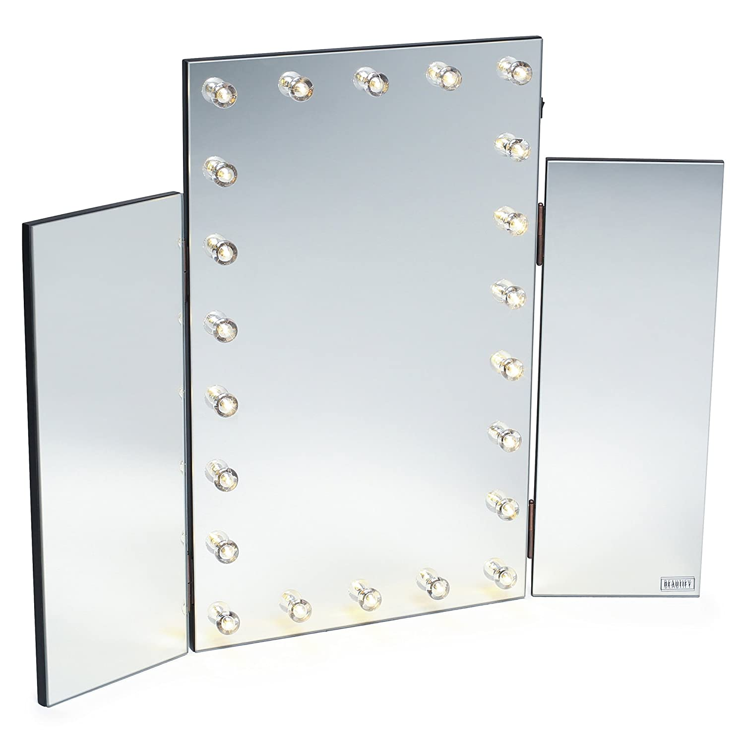 gloss or starlet los made us mirror black pin white lighted amazon vanity angeles