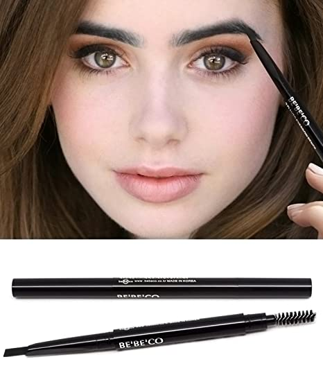 Amazon.com : Waterproof Smudgeproof Longlasting Eyebrow Pencil Brow Liner Cruelty Free Sweatproof Drawing Eye Brow with Brush for Girls Women Novice (black) ...