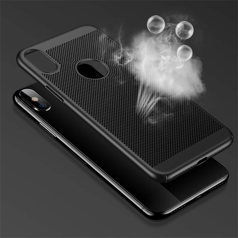 Hishiny Custodia iPhone X, XS Max Custodia Traspirante Protettiva Dura PC Case iPhone XR Ultra Sottile Anti-Graffio Cover per iPhone X/XS/XR/XS Max