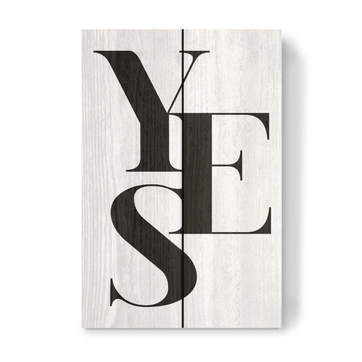 artboxONE Holzbild 30x20 cm Liebe 'Yes 02' von Künstler FroileinJuno