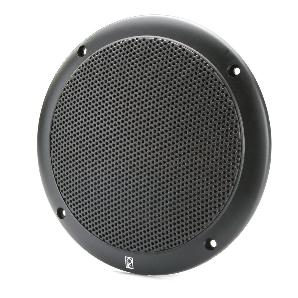 PolyPlanar 4'' 2 Way Coax Integral Grill Marine Speaker Pair Black